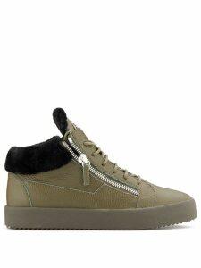 Giuseppe Zanotti double zipper sneakers - Green