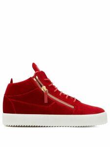 Giuseppe Zanotti Kriss Velvet hi-top sneakers - Red