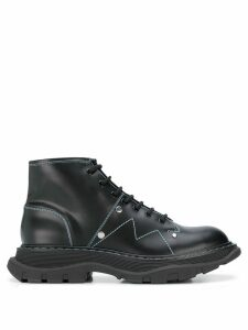Alexander McQueen stitched chunky ankle boots - Black