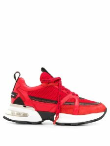 Philipp Plein logo lace low top sneakers - Red
