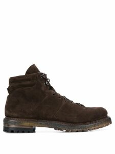 Silvano Sassetti combat boots - Brown