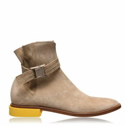 Off White Jodhpur Chelsea Boots