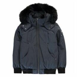 Moose Knuckles Hooded Bomber Jacket