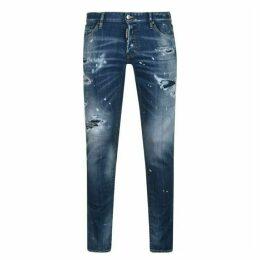 DSquared2 Paint Distressed Slim Fit Jeans