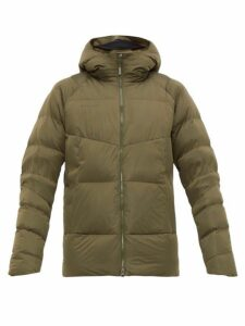 Mammut Delta X - Zun In Hooded Down Jacket - Mens - Khaki