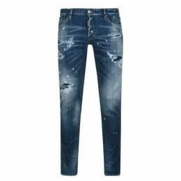 DSquared2 Paint Distressed Slim Fit Jeans