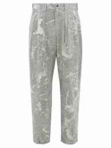 Sasquatchfabrix - Sumi Nagashi Canvas Trousers - Mens - Multi
