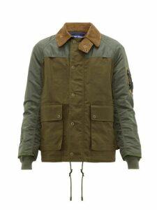 Junya Watanabe - Bomber Hybrid Jacket - Mens - Khaki