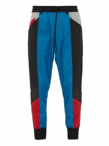 Y-3 - Mid Rise Block Shell Track Pants - Mens - Black Blue