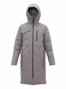 Nobis - Technical Down Hooded Parka Coat - Mens - Grey