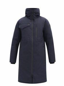 Nobis - Technical Down Hooded Parka Coat - Mens - Navy