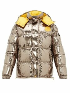 2 Moncler 1952 - Reversible Metallic Down Filled Jacket - Mens - Silver