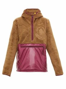 2 Moncler 1952 - Hooded Fleece And Shell Half Zip Jacket - Mens - Purple