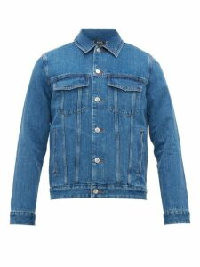 A.p.c. - Charles Washed Denim Jacket - Mens - Blue