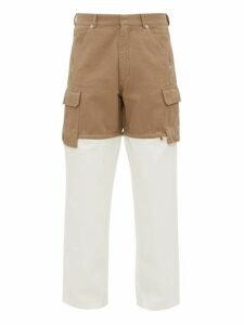 Jacquemus - Pêche Zipped Cut Off Cotton Straight Leg Trousers - Mens - Beige
