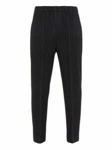Homme Plissé Issey Miyake - Cropped Plissé Trousers - Mens - Black