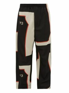Y-3 - Logo Jacquard Track Pants - Mens - Black White