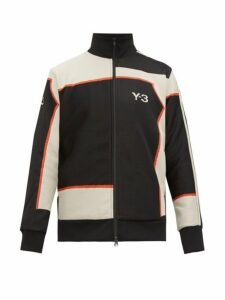Y-3 - Logo Jacquard Track Jacket - Mens - Black White