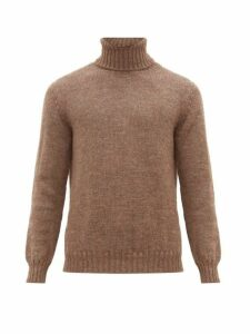De Bonne Facture - Roll Neck Wool And Alpaca Sweater - Mens - Light Brown