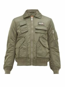 Schott - Padded Nylon Bomber Jacket - Mens - Green