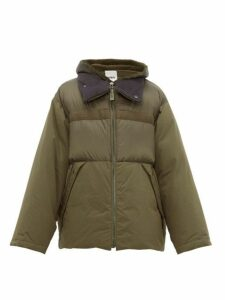Yves Salomon - Shearling Trimmed Technical Quilted Down Jacket - Mens - Green