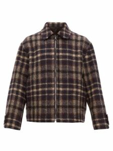 Raey - Harrington Checked Wool Jacket - Mens - Navy Multi