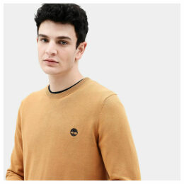 Timberland Manhan River Cotton Sweater For Men In Yellow Yellow, Size XL