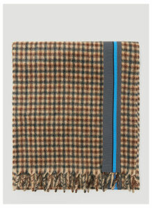 Prada Cashmere Check Scarf in Brown size One Size