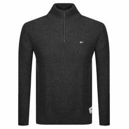Tommy Jeans Half Zip Sweatshirt Grey