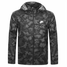Nike Windbreaker Camouflage Jacket Black