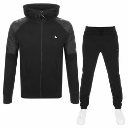 Money Nylon Mix Hooded Tracksuit Black