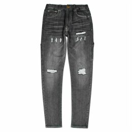 Human Made Black Distressed Slim-leg Jeans