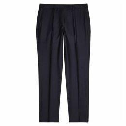 BOSS Giro Navy Wool Trousers
