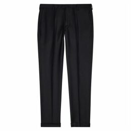 Paul Smith Navy Wool-blend Trousers