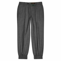 Gucci Grey Relaxed Wool Trousers