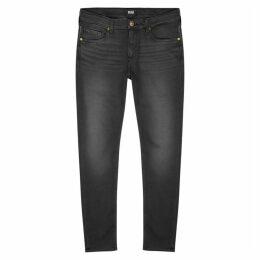 Paige Croft Dark Grey Skinny Jeans