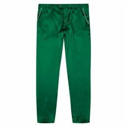 CASABLANCA Soirée Green Silk Trousers