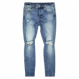 Ksubi Chitch Light Blue Distressed Jeans