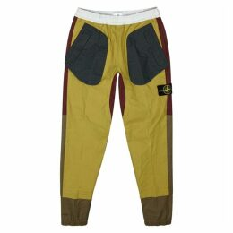 Stone Island Panelled Coated Cotton Trousers
