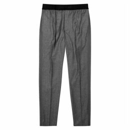 Helmut Lang Grey Straight-leg Wool Trousers