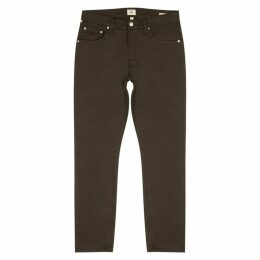Citizens Of Humanity Bowery Brown Stretch-cotton Trousers