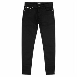 Represent Essential Black Straight-leg Jeans