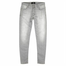 Represent Essential Grey Straight-leg Jeans