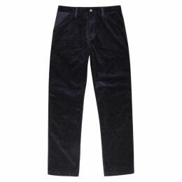 Carhartt WIP Single Knee Navy Corduroy Trousers