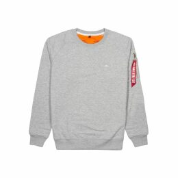 Alpha Industries X-Fit Grey Cotton-blend Sweatshirt