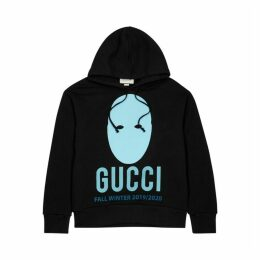 Gucci Black Printed Cotton Sweatshirt