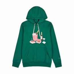 CASABLANCA Green Printed Cotton Sweatshirt