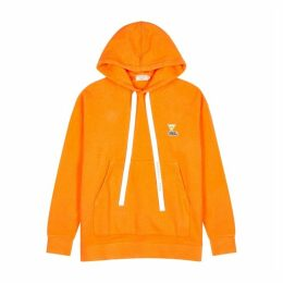 Maison Kitsuné Saffron Hooded Cotton-blend Sweatshirt