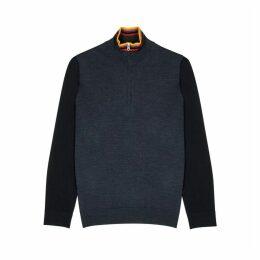 Paul Smith Striped High-neck Wool Sweatshirt