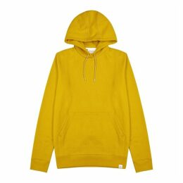 Norse Projects Vagn Mustard Hooded Cotton Sweatshirt
